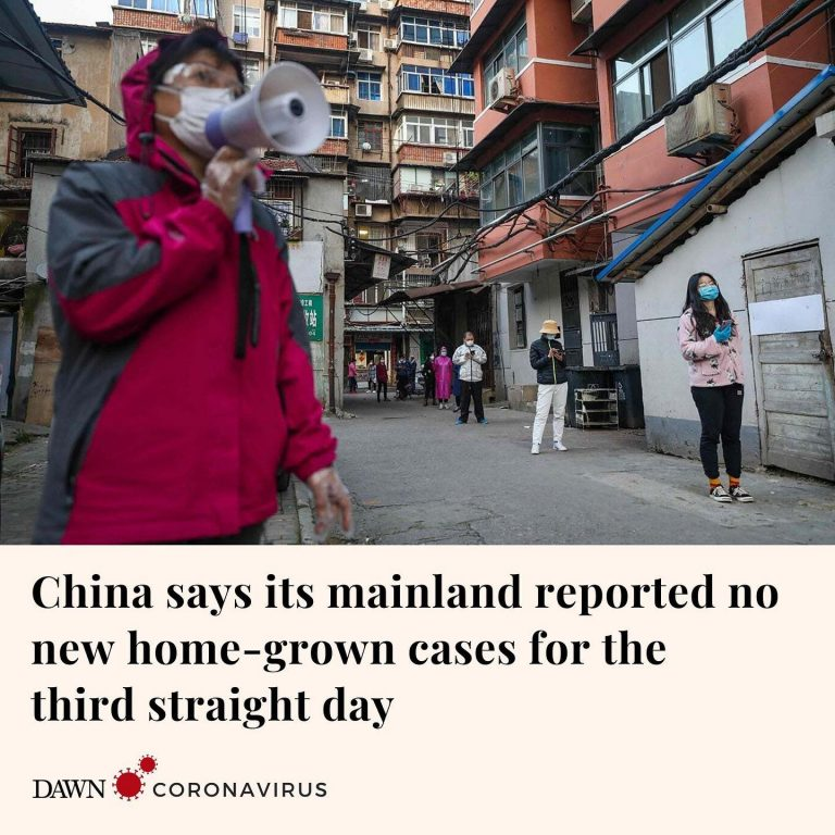 China reported on Saturday that its mainland had no new home-grown cases of the ... 3