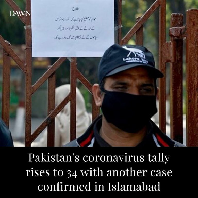 Another coronavirus case has been confirmed in Islamabad. According to Pakistan... 3