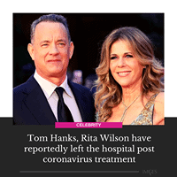 Last week, Hanks wrote on Twitter that he and Wilson had tested positive for the... 1