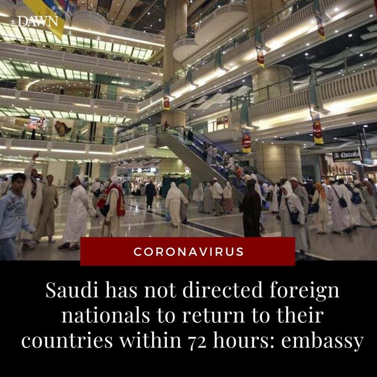 Saudi Arabia has not directed foreign nationals, including Pakistanis, to return... 3