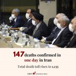 Iran reported its single biggest jump in deaths from the new coronavirus, saying... 1