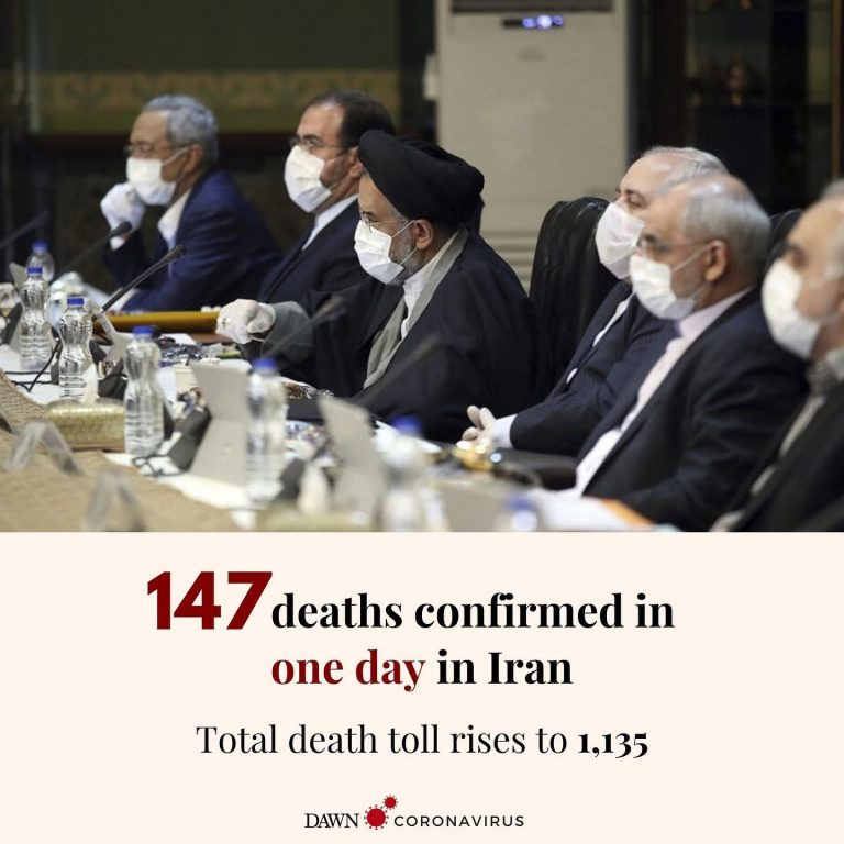 Iran reported its single biggest jump in deaths from the new coronavirus, saying... 3