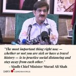 Sindh Chief Minister Murad Ali Shah has said that while the number of coronaviru... 6