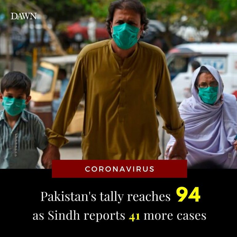 BREAKING: 41 more cases confirmed in Sindh, Pakistan's total rises to at least 9... 3