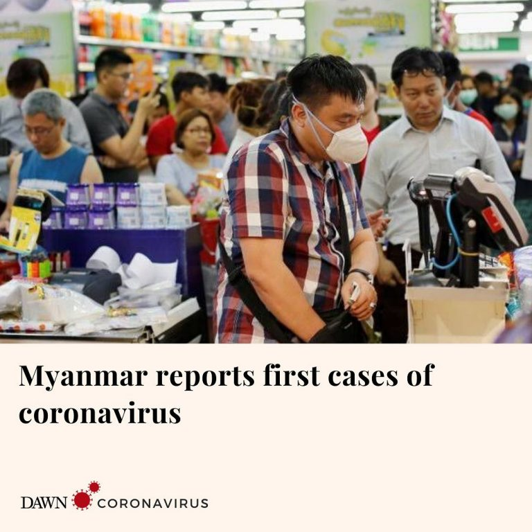 Myanmar reported its first confirmed cases of coronavirus in two men who had rec... 3