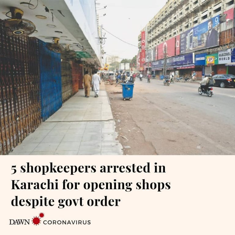 Police have arrested five shopkeepers in Karachi's DHA on charges of openin... 3