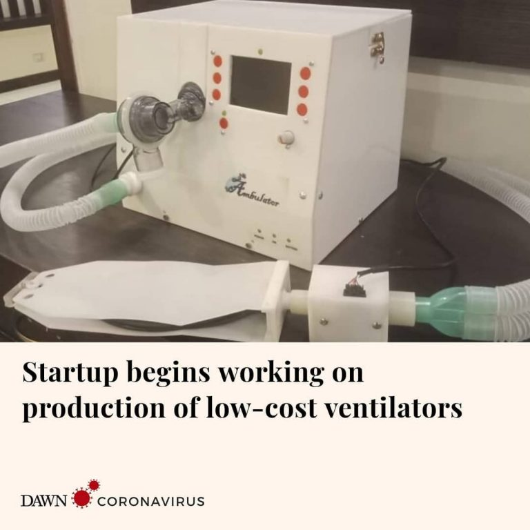 Ventilate — a company that invented a low-cost ventilator has started work on pr... 1