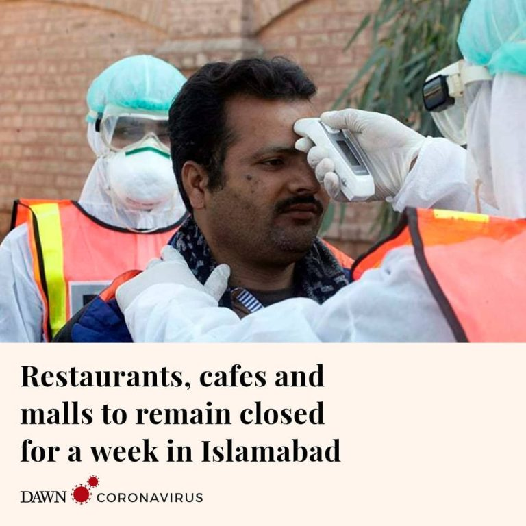 The Islamabad administration has decided to shut down all restaurants, cafes and... 3