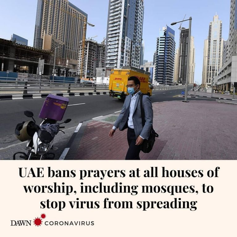 The United Arab Emirates health ministry banned prayers at all houses of worship... 3