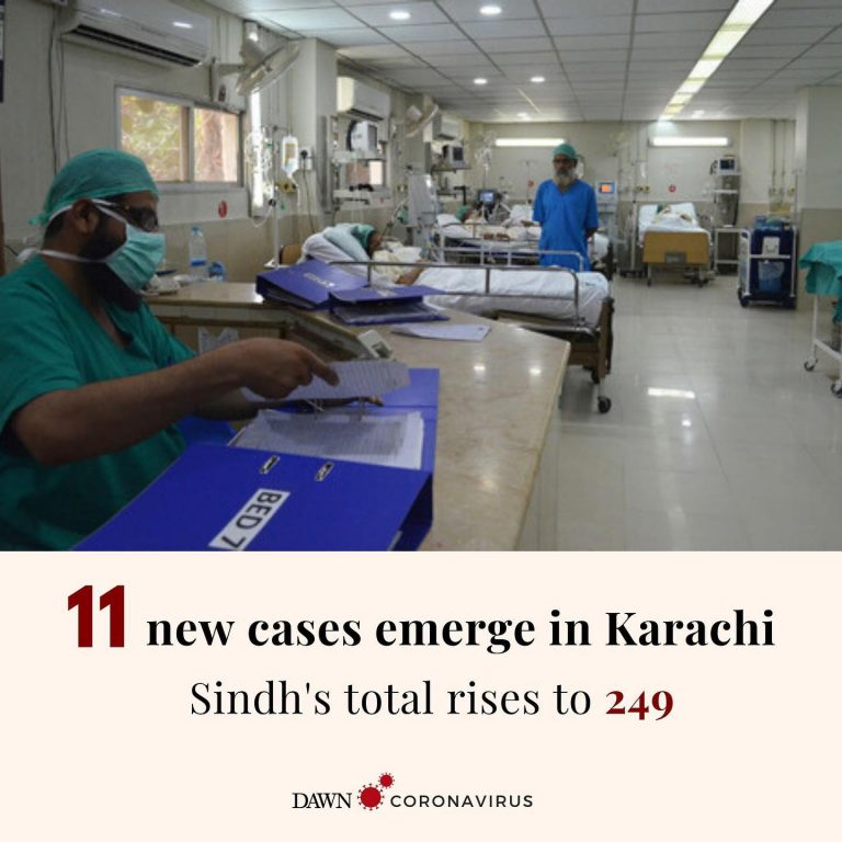 11 new coronavirus cases have been confirmed in Karachi, a spokesperson for the ... 3