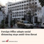 The Foreign Office on Tuesday set up a special cell for coordination on coronavi... 1
