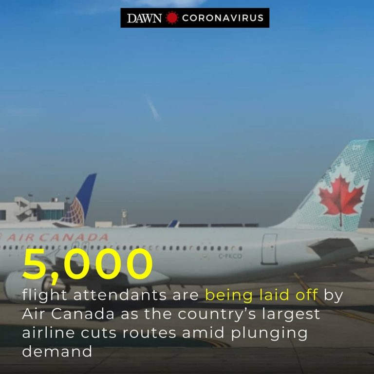Air Canada is laying off more than 5,000 flight attendants as the country's larg... 3