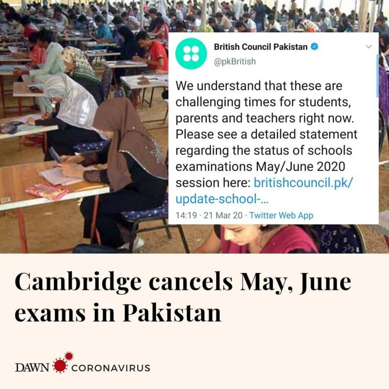 On Pakistan's request and in view of the coronavirus pandemic, Cambridge Interna... 3