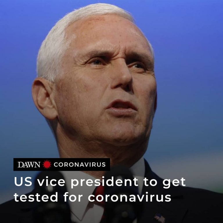 US Vice President Mike Pence has said he and his wife will be tested for coronav... 3