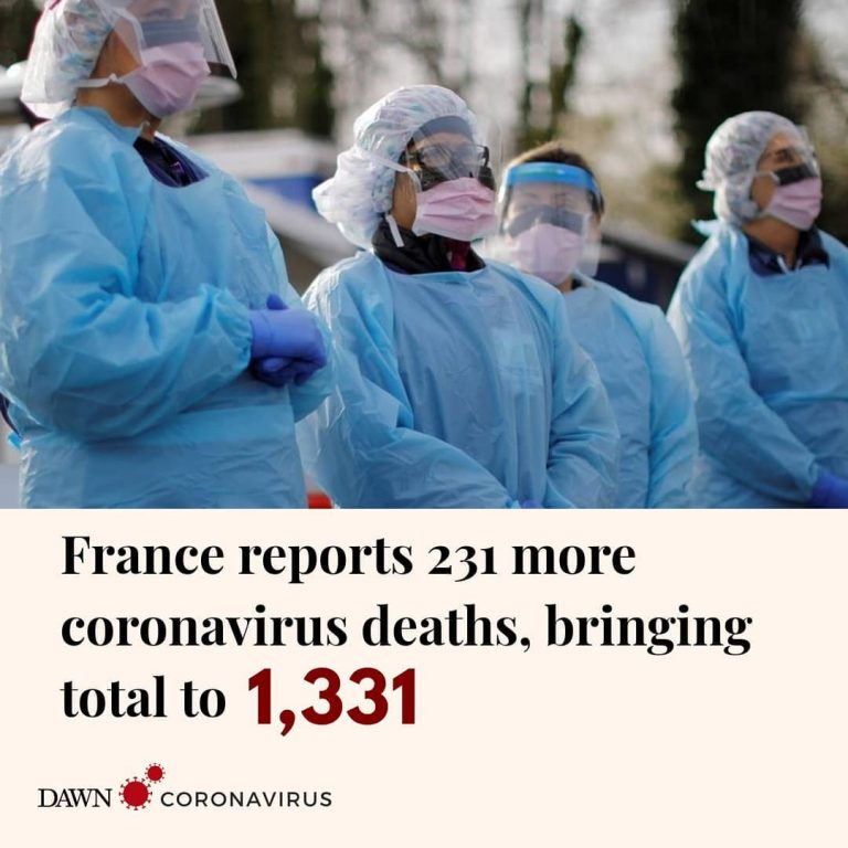French health authorities reported 231 new deaths from coronavirus on Wednesday,... 1