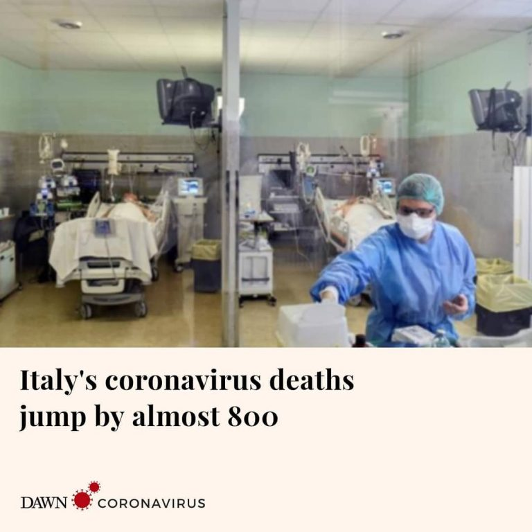 According to Reuters, Italy has recorded a jump in deaths from coronavirus of al... 3