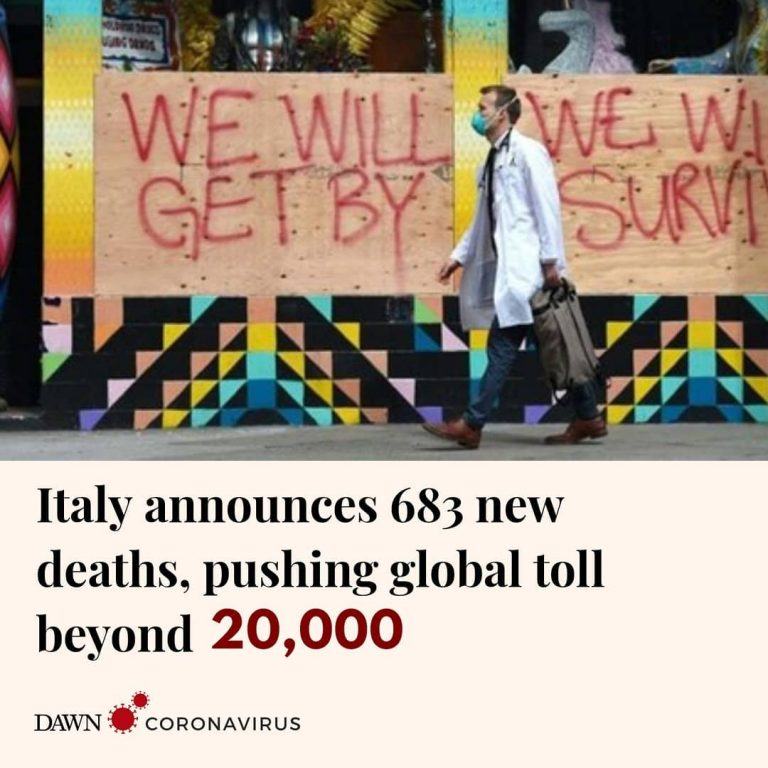Another 683 people have died of the coronavirus in Italy, officials from the cou... 1