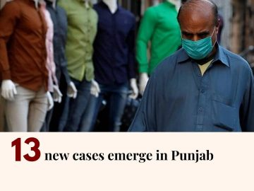 Punjab has reported 13 new Covid-19 cases, according to provincial health depart... 11