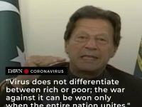 Addressing the nation of the Covid-19 situation, Prime Minister Imran Khan said ... 19