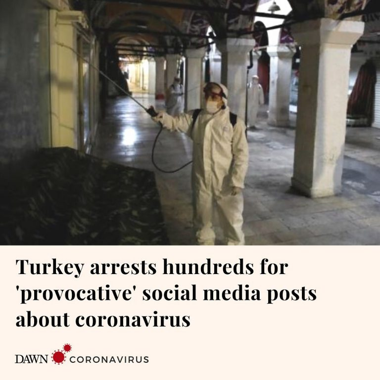 """Turkey has arrested 410 people for making """"provocative"""" posts on social media ab... 1"""