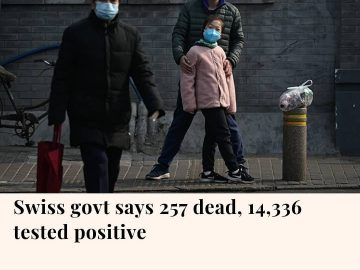 The Swiss death toll from coronavirus has reached 257, the country's public heal... 2