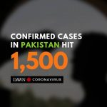 Pakistan's tally of coronavirus cases has reached 1,500, with 12 deaths having b... 1