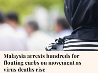 Malaysia this week arrested hundreds of people for violating restrictions aimed ... 15