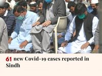 According to the Sindh health department, 61 new coronavirus cases have been rep... 8