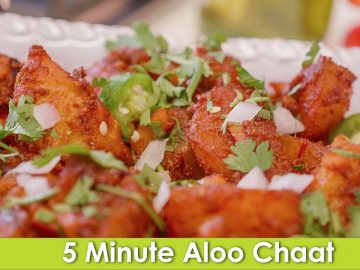 Aloo ki Chaat Chat Patay Masala Potatoes Recipe in Urdu Hindi - RKK
