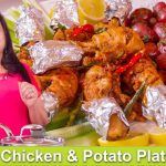 Chicken & Potato Platter Healthy Party Idea Recipe in Urdu Hindi - RKK