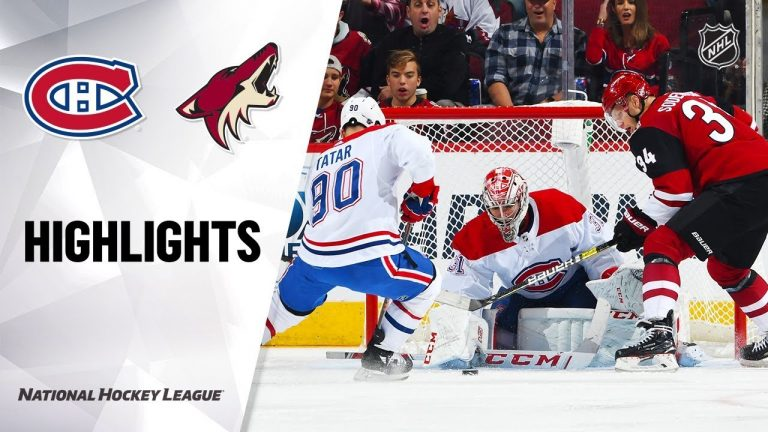 NHL Highlights   Canadiens @ Coyotes 10/30/19