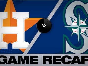 Cole sets Astros' K record in shutout win | Astros-Mariners Game Highlights