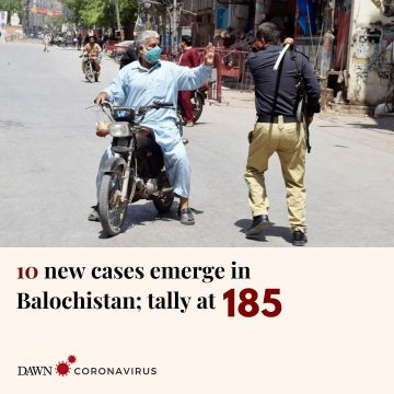 10 new coronavirus cases have been confirmed in Balochistan, taking the provinci... 52