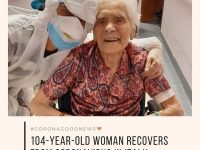Today's #CoronaGoodNews: A 104-year-old woman in Italy has recovered completely ... 24