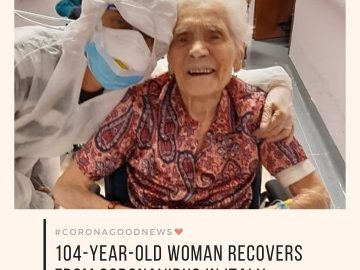 Today's #CoronaGoodNews: A 104-year-old woman in Italy has recovered completely ... 12