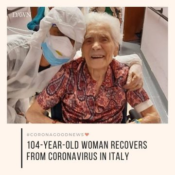 Today's #CoronaGoodNews: A 104-year-old woman in Italy has recovered completely ... 33