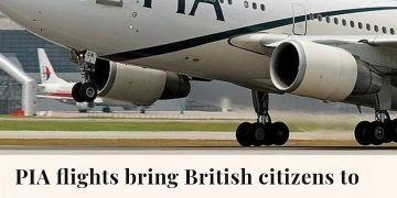 Two PIA flights carrying nearly 600 British citizens landed in Manchester and Lo... 20