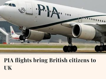 Two PIA flights carrying nearly 600 British citizens landed in Manchester and Lo... 2