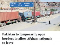 At the request of the Afghan government and based on humanitarian considerations... 35