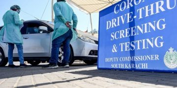 A drive-through coronavirus testing centre has been established by the Sindh gov... 24