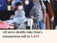 Iran's death toll from the coronavirus outbreak climbed to 3,452, with 158 more ... 44