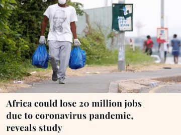 About 20 million jobs are at risk in Africa as the continent's economies ar... 3