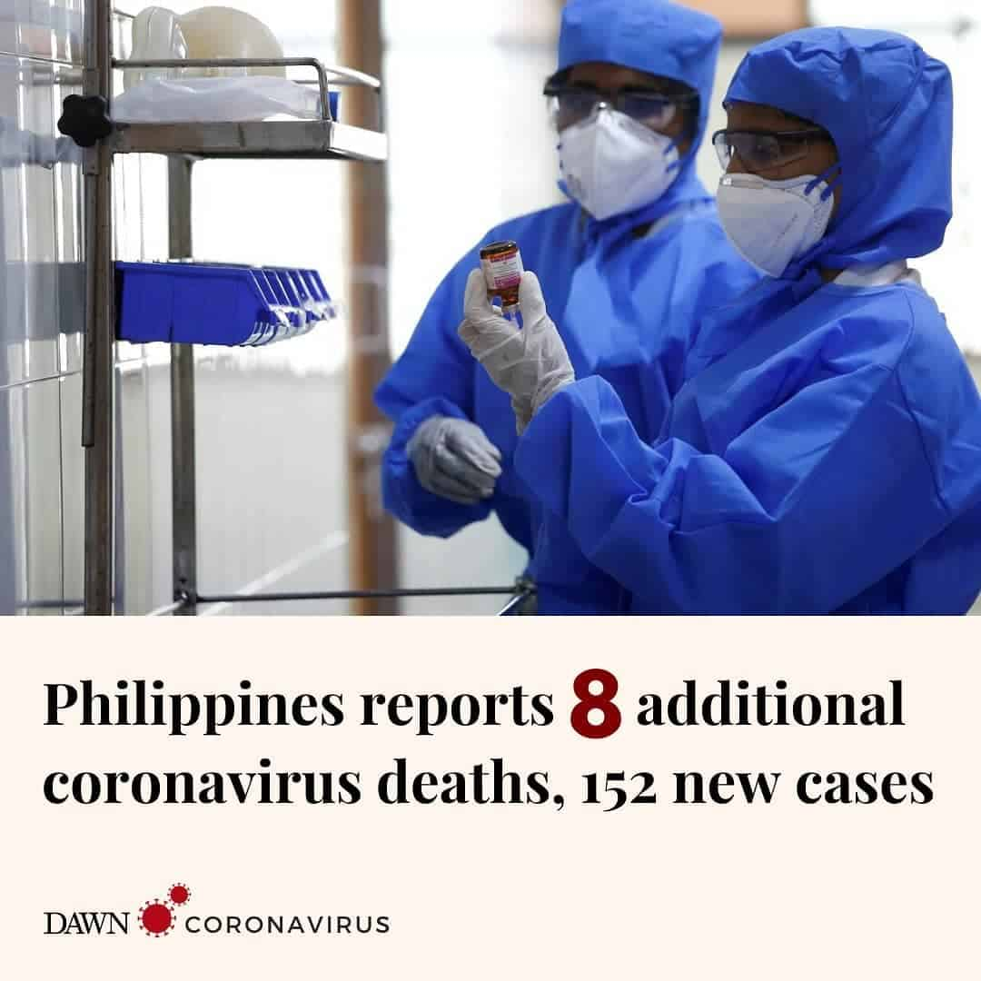 The Philippine health ministry has reported eight additional coronavirus deaths ... 8
