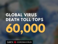 The global death toll in the coronavirus crisis has soared past 60,000, AFP repo... 22