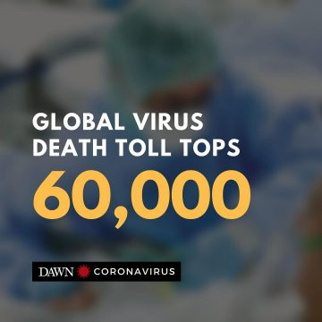 The global death toll in the coronavirus crisis has soared past 60,000, AFP repo... 31