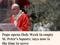 Pope Francis marked a surreal Palm Sunday in an empty St. Peter's Basilica, urgi... 11