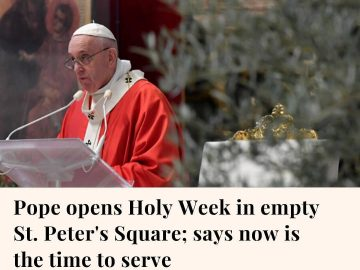 Pope Francis marked a surreal Palm Sunday in an empty St. Peter's Basilica, urgi... 9
