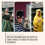 British postman Glen Walton has delivered letters and parcels dressed as a robbe... 2