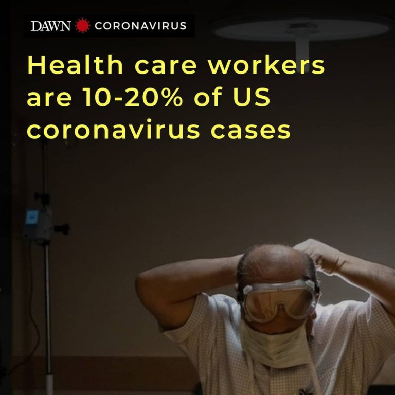 Between 10 per cent and 20pc of US coronavirus cases are health care workers, th... 3