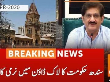 Sindh government decides to ease lockdown | Saeed Ghani | GNN | 30 April 2020